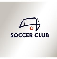 Template logo Football Soccer Club vector image