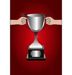 Trophy winners background vector image
