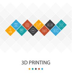 3d printing trendy ui template infographics vector