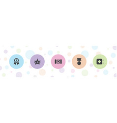 5 first icons vector