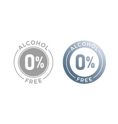 alcohol free icon for cosmetic product or medical vector image