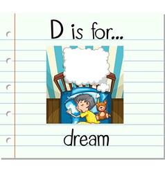 Alphabet D is for dream vector
