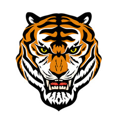 angry tiger sign vector image