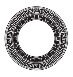 Antique greek style meander ornanent hand drawn vector
