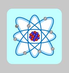 atom molecule concept background cartoon style vector image