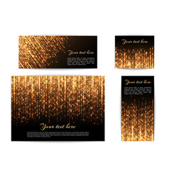 banners with shiny lights vector image