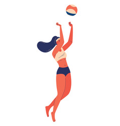 beach volleyball concept isolated vector image