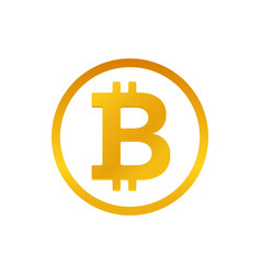 Bitcoin sign isolated on white background vector