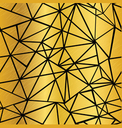Black and golden foil geometric mosaic vector
