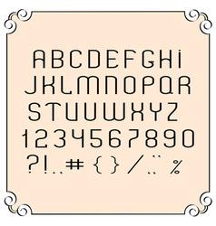 Black simple font vector
