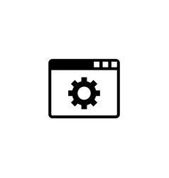 browser setup flat icon vector image