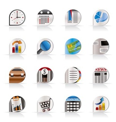 business and office realistic internet icons vector image