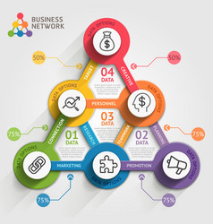Business marketing infographic template vector image