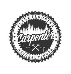 Capenter industry logo design - carpentry vector