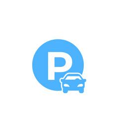 car parking icon vector image