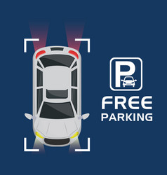 car with free parking signal vector image