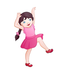 Cartoon playing girl vector image