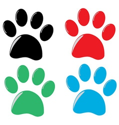cat paw vector image
