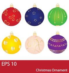 Christmas Balls Ornament Collection vector
