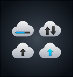 Cloud computing concept with arrows vector image