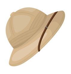Cork hat from the sunafrican safari single icon vector
