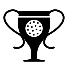 Cup golf icon simple style vector image