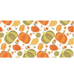 Cute simple naive pumpkin seamless pattern vector