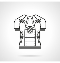 Cycling shirt flat line icon vector image