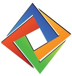 Diamond square geometric vector