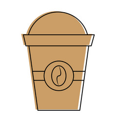 Disposable coffee cup icon imag vector