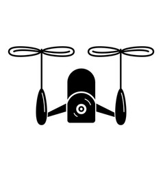 Drone double copter icon simple style vector