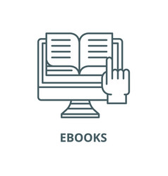 ebooks line icon linear concept outline vector image