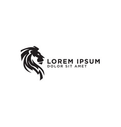 elegant lion logo design template vector image
