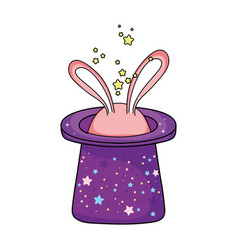 fairytale magic hat with rabbit ears vector image