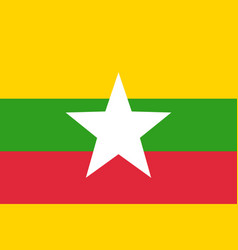 Flag of myanmar vector
