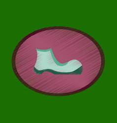 flat shading style icon footwear shoe vector image