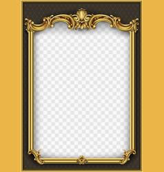 Frame postcard cover gold baroque rococo vector