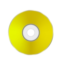 Gold Compact Disc vector