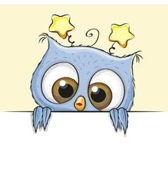 Greeting card cute Owl boy vector