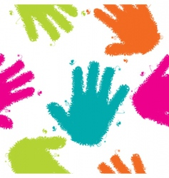 hands seamless background vector image