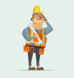 happy smiling construction worker foreman boss vector image