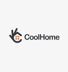 Home icon ok symbol okay logo high vector