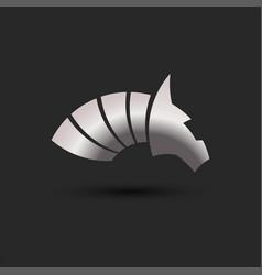 horse head logo metal abstract animal figure vector image