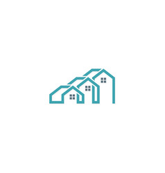 house company logo vector image