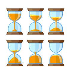 key frames hourglasses isolate on white vector image