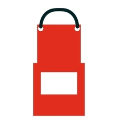 kitchen apron isolated icon vector image