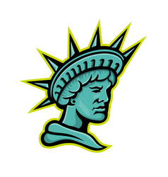 lady liberty or libertas mascot vector image