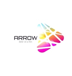 logo template Abstract arrow shape and vector image