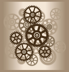 Mechanism with gears vector