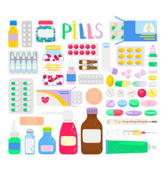 medicines and medications vector image